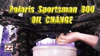 7. How to Change Oil Polaris SPORTSMAN 800 Twin EFI: 2 qt Fill