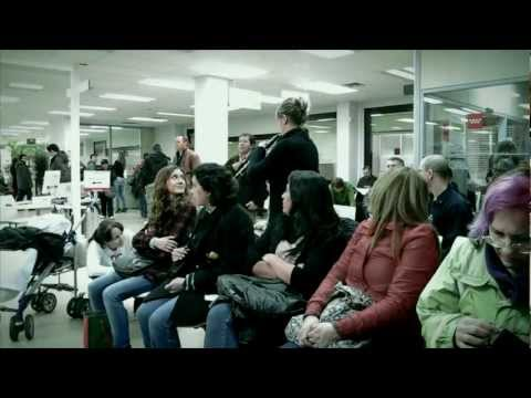 Flashmob in Jobcenter von Madrid