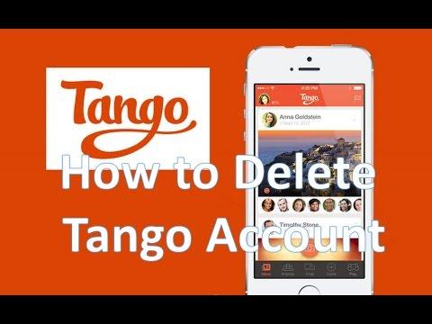 как удалить учетная запись танго