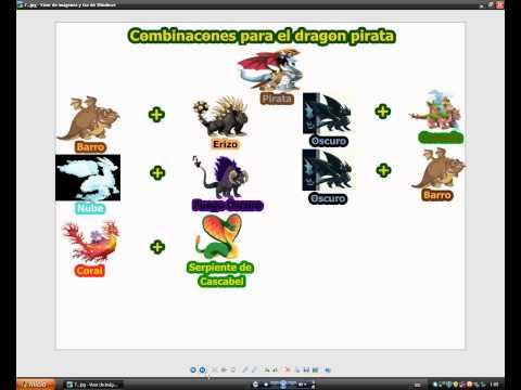 Combinaciones Dragon City:Chicle,Futbolista,Fuego Fresquito,Armadillo, Petroleo,Pirata y caca.
