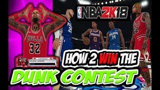Download Lagu HOW TO WIN NBA 2K18 DUNK CONTEST 🔥 EASY🔥 #NBA2K18 TUTORIAL Mp3
