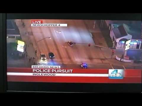Inglewood Police Chase Front Row (Wait for it)