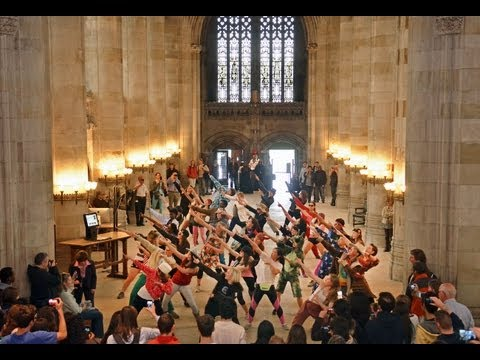 Yale - A flash mob of dancers took over the Sterling Memorial Library nave at 10:00 am on Monday, April 29th, 2013 to the tune of Macklemore's hit, 