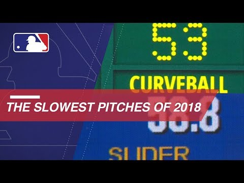 Video: The slowest pitches of the 2018 season