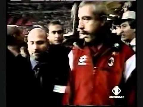 la partita di addio al calcio di franco baresi, un mito!!!