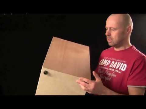 Thomas Brucke alias Tomy B. zeigt den Sela Snare Cajon Bausatz видео
