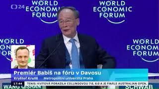 Premér Babiš na fóru v Davosu
