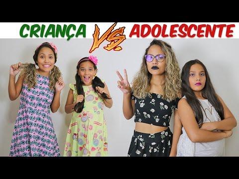 CRIANÇA VS ADOLESCENTE! - JULIANA BALTAR (видео)