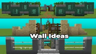 SIMPLE WALL IDEAS & DESIGNS for Minecraft 1.14