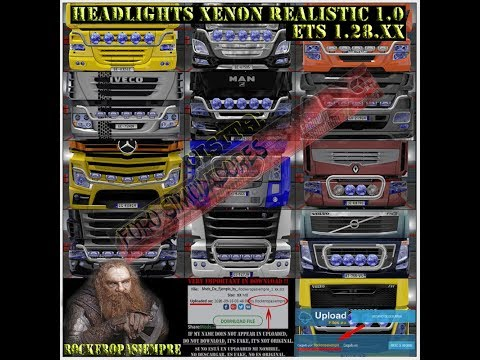 Headlights Xenon Realistic and Visors Rockeropasiempre v2.1