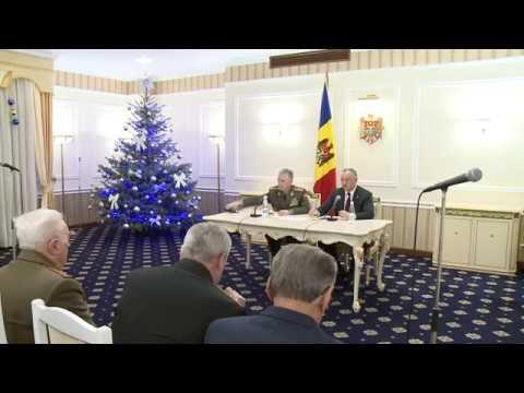 Șeful statului a participat la ședința Comisiei veteranilor forțelor armate ai organelor de drept și participanților la conflictele militare