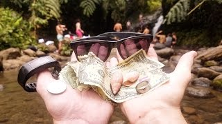 Found Money and Jewelry While Freediving at Waterfall in Hawaii! | DALLMYD