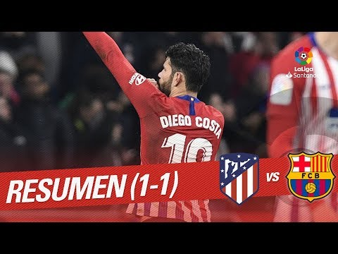 Resumen De Atlético De Madrid Vs FC Barcelona (1-1)