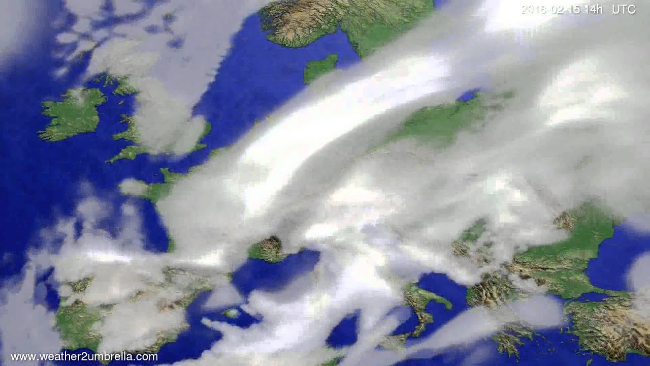 Cloud forecast Europe 2016-02-11