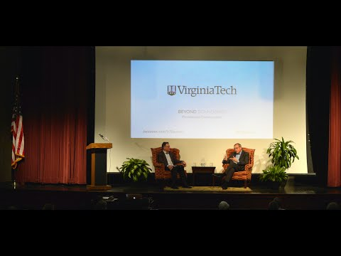 University presidents Tim Sands and Kent Fuchs discuss challenges of higher education