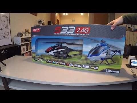 Watch an unboxing of the Syma S33 RC Helicopter