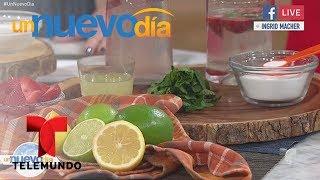 Video oficial de Telemundo Un Nuevo Día. Nuestra especialista en nutrición nos muestra 3 usos del bicarbonato de sodio y el jugo de limón para bajar de peso y deshinchar la barriguita. ¡Pruébalo!YouTube: http://www.youtube.com/unnuevodiaOfficial page: http://www.Telemundo.com/UnNuevoDiaFacebook https://www.Facebook.com/UnNuevoDiaTwitter https://twitter.com/#!/UnNuevoDiaSUBSCRIBETE: http://bit.ly/1ykCaDrUn Nuevo Día:Es un programa de entretenimiento que ofrece las últimas noticias y titulares de la farándula, lo que está pasando en la vida de los famosos dentro y fuera de la pantalla. Además de los secretos más íntimos de los artistas, sus camerinos y sus hogares.SUBSCRIBETE: http://bit.ly/1ykCaDrTelemundoEs una división de Empresas y Contenido Hispano de NBCUniversal, liderando la industria en la producción y distribución de contenido en español de alta calidad a través de múltiples plataformas para los hispanos en los EEUU y a audiencias alrededor del mundo. Ofrece producciones originales, películas de cine, noticias y eventos deportivos de primera categoría y es el proveedor de contenido en español número dos mundialmente sindicando contenido a más de 100 países en más de 35 idiomas.FOLLOW US TWITTER: http://bit.ly/1aKzTGALIKE US ON FACEBOOK: http://bit.ly/1Bpw7JVGOOGLE+: http://bit.ly/1AyjyRk¡Pierde peso con bicarbonato de sodio y jugo de limón!  Un Nuevo Día  Telemundo