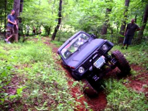 My Suzuki Samurai running some ruts.