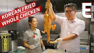 Korean Fried and Stuffed Chicken Served Whole – K-Town by Eater