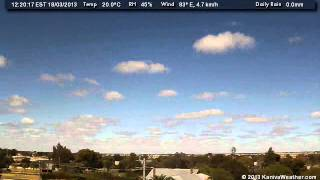 18 March 2013 - South Facing WeatherCam Timelapse - KanivaWeather.com