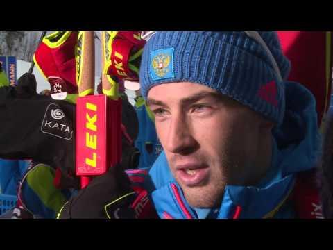 Дмитрий Малышко после мужского спринта на 5-м этапе Кубка мира по биатлону в Рупольдинге