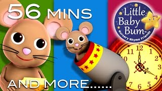 Hickory Dickory Dock | Plus Lots More Children's Rhymes! | 56 Minutes Long | From LittleBabyBum