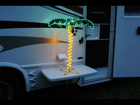 Short Review of EEZ RV Products 2.5ft LED Palm Tree