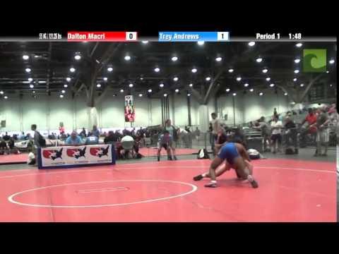Men 55 KG / 121.25 lbs – Dalton Macri vs. Trey Andrews