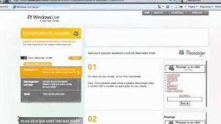 Tutorial de uso do Windows Live Messenger e Hotmail no celular.