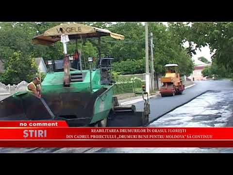 """Reabilitarea drumurilor în orașul Florești din cadrul proectului ,,Drumurile bune pentru Moldova"""""""