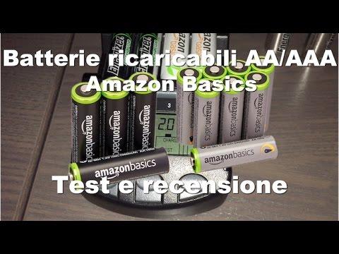 Batterie ricaricabili Amazon Basics AA/AAA - Recensione e test