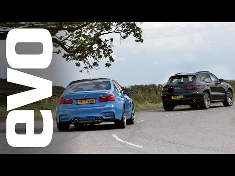 drag - We put the new Porsche Macan Turbo up against the BMW M3 in a straight line drag race. Which one's your money on?