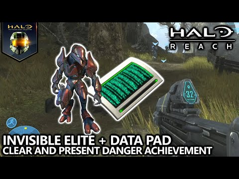 Halo Reach - Clear and Present Danger Achievement Guide - Invisible Elite w/ Data Pad 10