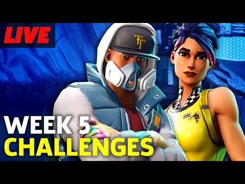Fortnite Season 4 Week 5 Challenges and Shopping Carts | GameSpot LIVE Replay