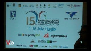 Presentazione 15th FAI Paragliding World Championship