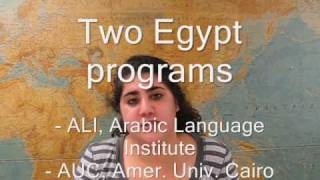 Miriam - Egypt, American University in Cairo, Middle Eastern Studies
