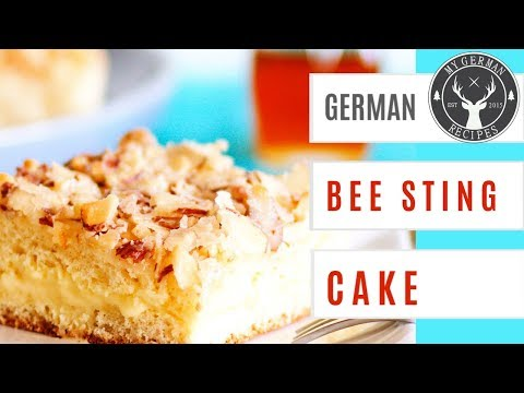German Bee Sting Cake Recipe - Bienenstich ✪ MyGerman.Recipes