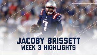 Every Jacoby Brissett Throw & Run (Week 3) | Texans vs. Patriots | NFL by NFL