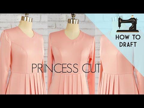 Princess Cut blouse | how to draft a perfect princess dart in a professional way