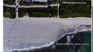 Drone Imagery Shows Substantial Erosion on Miami Beach from Hurricane Matthew