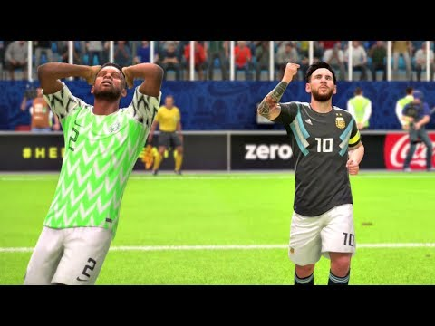 World Cup 2018 Nigeria Vs Argentina - Group D Full Match Sim (FIFA 18)