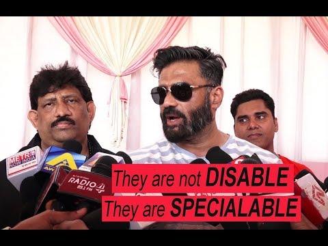 Suniel Shetty At India  Bangladesh Wheelchair Cricket Series Semi Finale