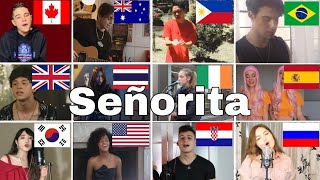 Video Who Sang It Better : Shawn Mendes - Señorita ( From 12 different countries) MP3, 3GP, MP4, WEBM, AVI, FLV Juli 2019