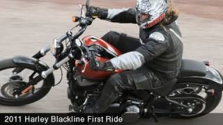 3. MotoUSA 2011 Harley-Davidson Blackline First Ride