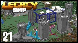 FANTASY MEGA BASE PROGRESS!!   Minecraft Legacy SMP   #21