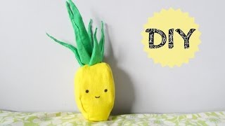 DIY: Pineapple Pillow (No sew) - YouTube