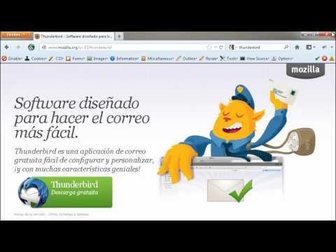 Video 2 de Mozilla Thunderbird: Instalar y configurar Thunderbird