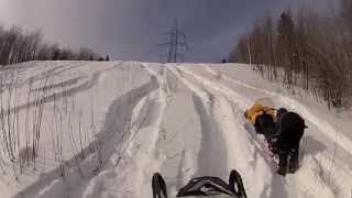 5. Ski-doo summit 600 carb going up a hill!