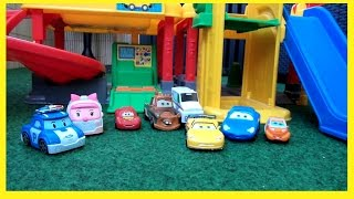 Cars 2 Toys Robocar Poli Toys Cars Kinder film Deutsch Fisher Price Little People Parkhaus full download video download mp3 download music download