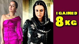 Shraddha Kapoor talks about her weight gain transformation for Haseena Parkar at the trailer launch event. Reporter: Neha...